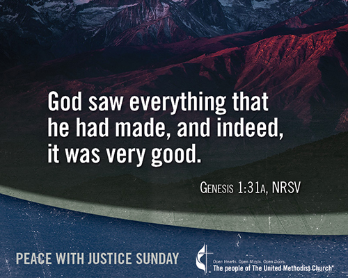 June 7—Peace with Justice Sunday (today)/Trinity Sunday