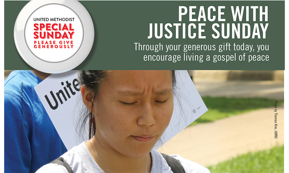 Peace with Justice Sunday promo card image