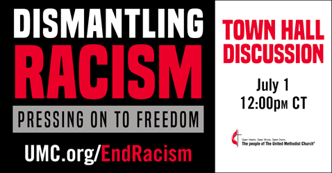 Dismantling Racism: Journey Toward Freedom is a is a multi-level effort throughout the church to initiate a sustained and coordinated effort to dismantle racism and promote collective action to work toward racial justice.  A town hall meeting will take place on July 1 at 12:00 p.m. CDT. Image by United Methodist Communications.
