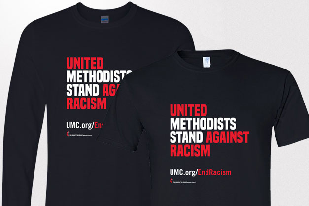 United Methodists Stand Against Racism shirts are available for purchase.