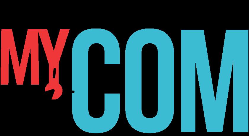 MyCom, church marketing email newsletter logo with margin