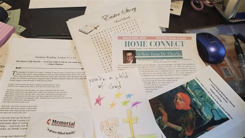 """Contents of a """"Mac Pac"""" from Memorial United Methodist delivered to a homebound senior citizen. Courtesy of the Florida Annual Conference."""