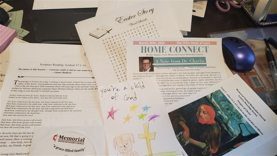 "Contents of a ""Mac Pac"" from Memorial United Methodist delivered to a homebound senior citizen. Courtesy of the Florida Annual Conference."