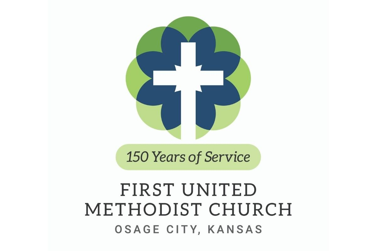 Anniversary logo created for First United Methodist Church in Osage City, Kansas. (Image courtesy of United Methodist Communications.)