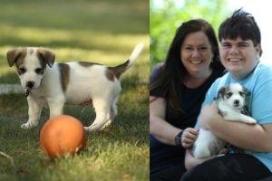 Jennifer Rhodia and her son Lukas are enjoying their time with Loki. (Photos courtesy of Jennifer Rhodia.)