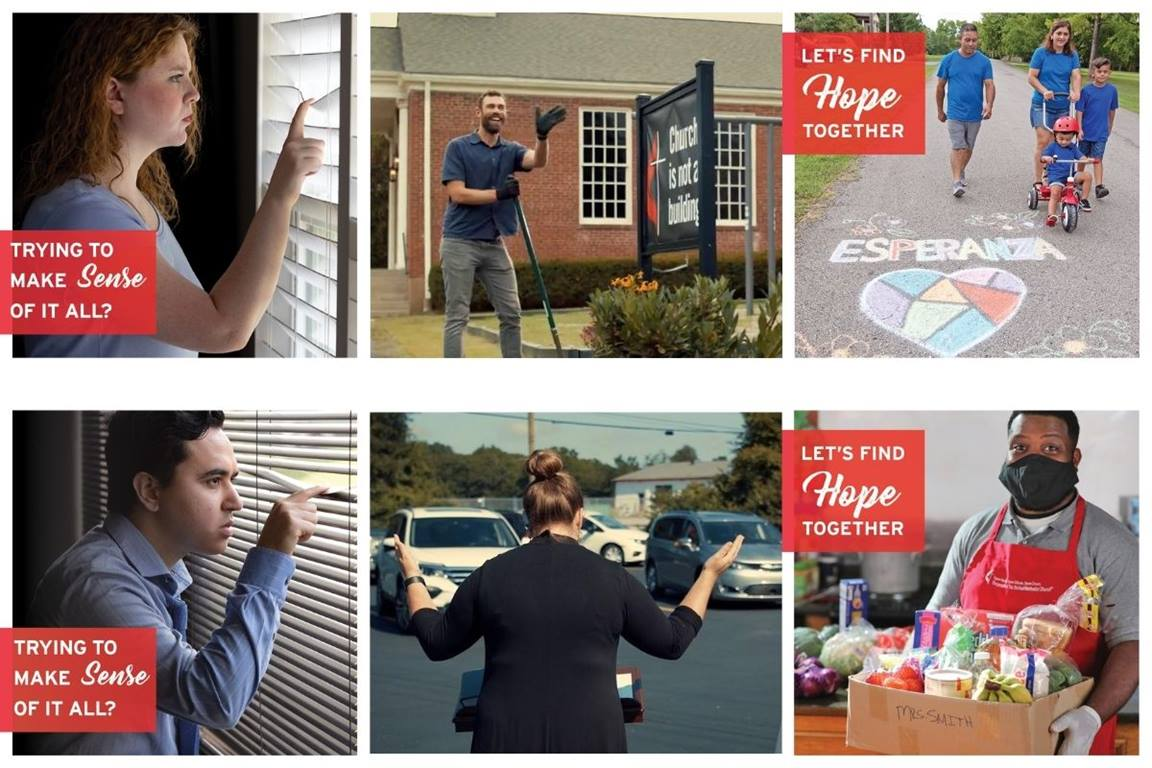 United Methodist Communications launches advertising efforts through digital media and video, including social media, websites, search engines and advanced television.  (Images courtesy of United Methodist Communications.)