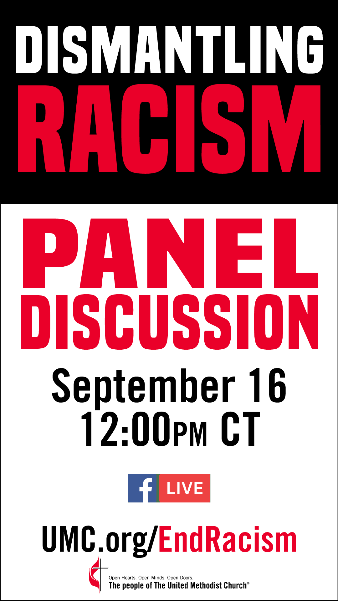 Join the September 16, 2020 town hall discussion at noon on the theological roots of racism and colonialism.