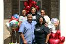 The Rev. Belinda McCastle and her family at the drive-by celebration put on in their honor by the members of Red Oak United Methodist. Courtesy of Red Oak.