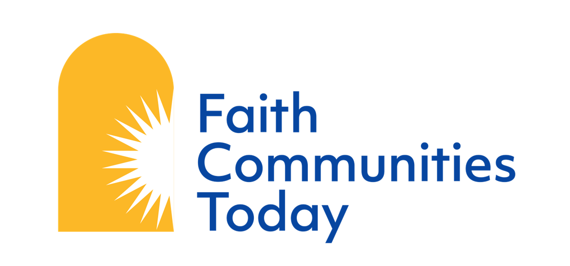 Faith Communities Today (FACT) is a a multi-faith research coalition conducting surveys and practical reports on congregations and congregational life in the U.S. Logo courtesy of Faith Communities Today.