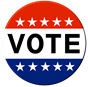 Vote sticker image by Amberzen on Pixabay.com.