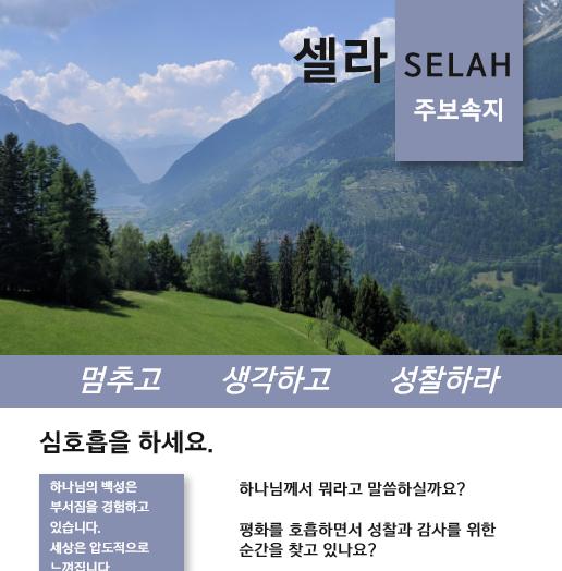 2020 셀라 한국어 주보 속지 산