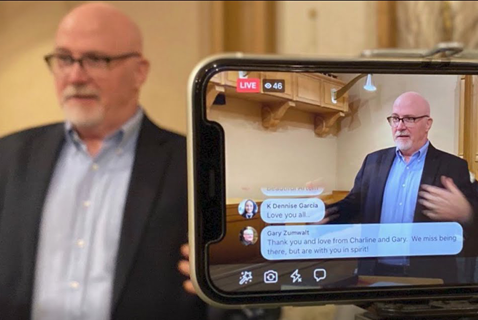 United Methodist Communications has responded to a tumultuous 2020, also the year marking our 80th year in ministry, with innovative global technology solutions, transformative local church. Screenshot from video produced by United Methodist Communications.