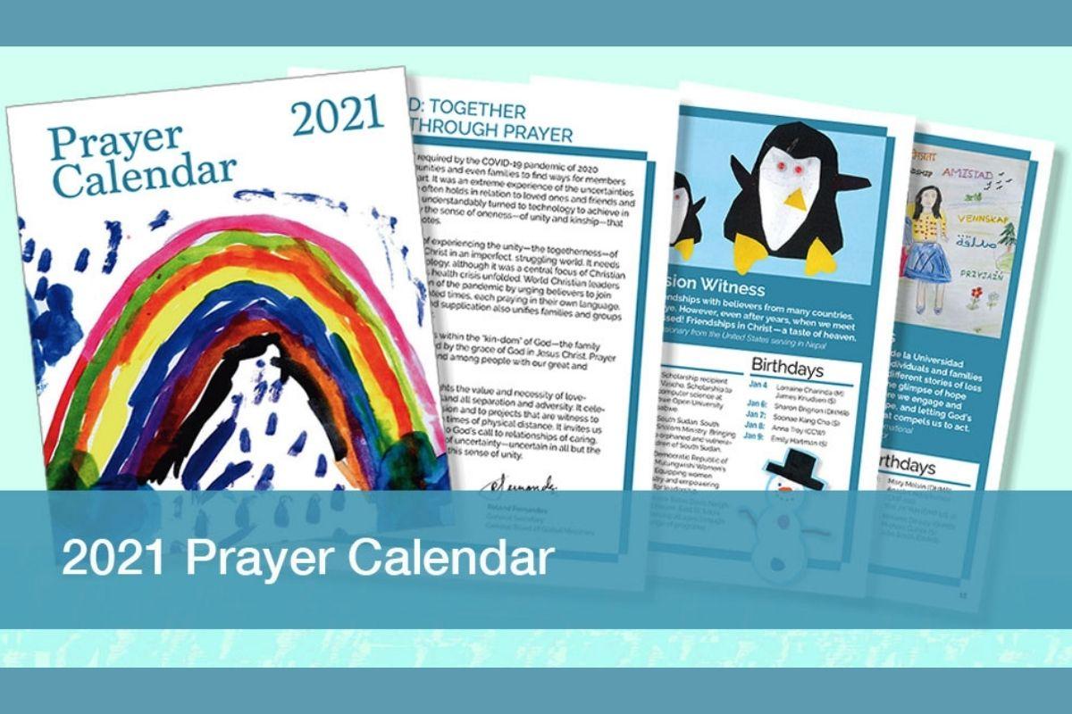 United Methodist Women's 2021 Prayer Calendar page samples. (Image courtesy of United Methodist Women.)