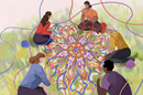 """""""Knitted Together for God's Good Work"""" explores how we, as the body of Christ, are joined and linked together as a community -- even when social distancing or other obstacles may keep us physically apart. Image courtesy of United Methodist Women."""