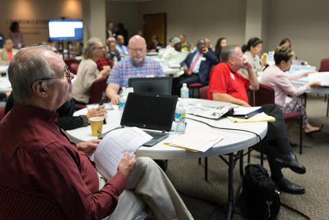 The Commission of United Methodist Communications meets at the United Methodist Communications building in Nashville. Photo courtesy of United Methodist Communications.