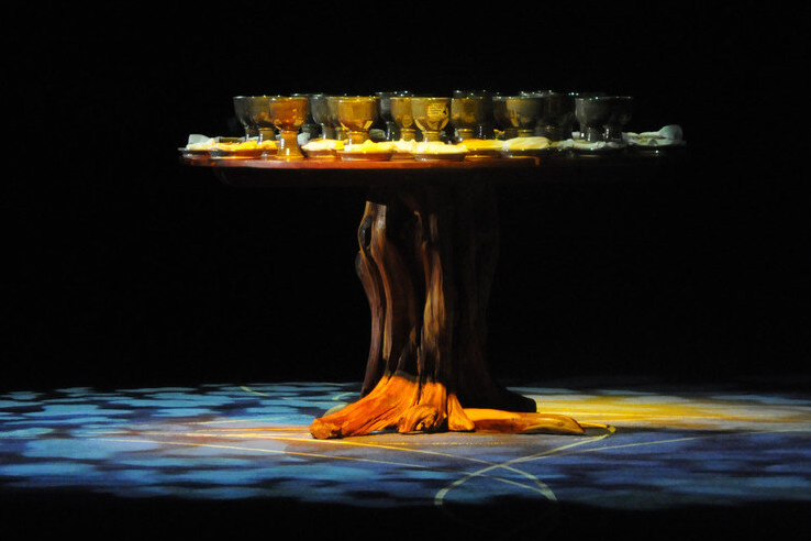 The church should be an egalitarian community that actively rejects racism, sexism, heterosexism, and all other forms of discrimination, and that purposefully seeks ways to create a community of equals.   Communion table at the opening worship of the 2012 United Methodist General Conference held in Tampa, Fla. bringing together worshipers from around the globe. File photo by John C. Goodwin, UMNS.