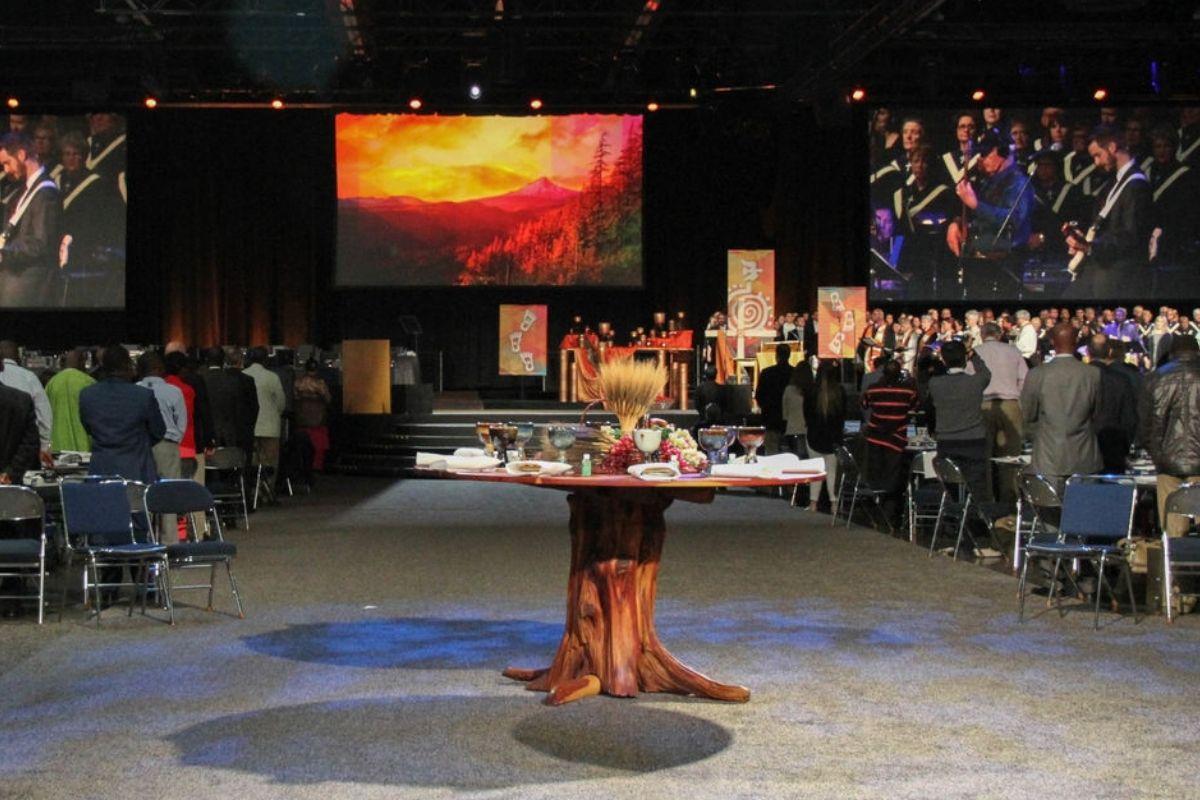Celebración de apertura de la Conferencia General Metodista Unida de 2016, Portland, Oregon. Foto de Maile Bradfield, UMNS.