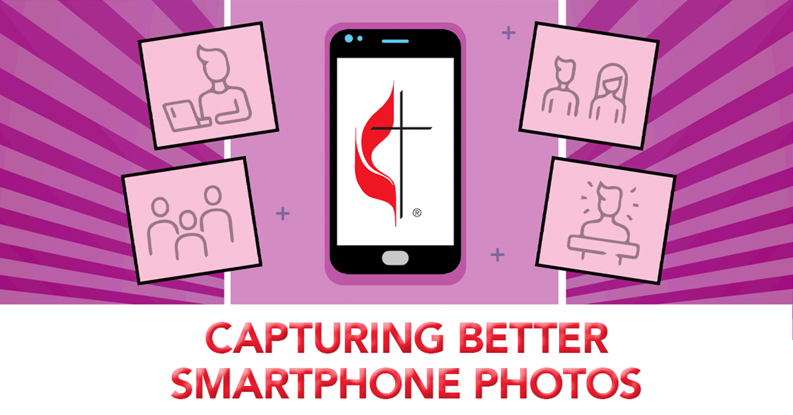 You can take great photos with your smartphone. This training will help you maximize your smartphone's capabilities and help you make up for the limitations of smartphone cameras. Free online training course from United Methodist Communications.