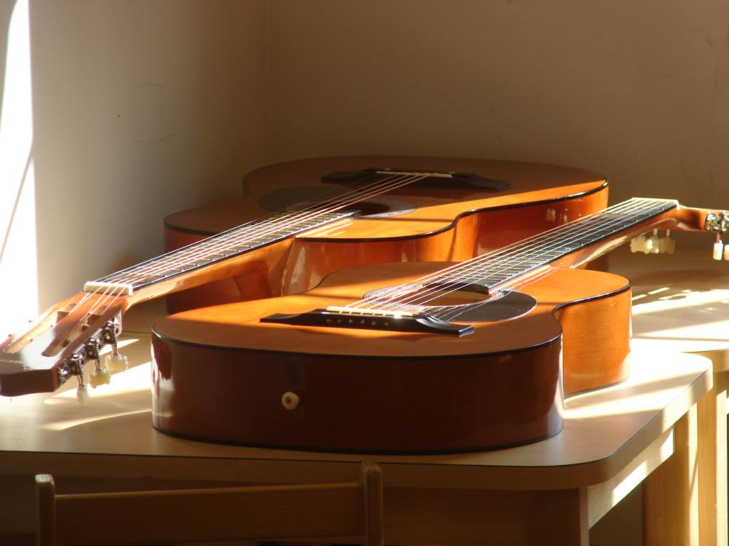 Guitars in Christ's Foundry United Methodist Church. Photo by Sam Hodges, UMNS.