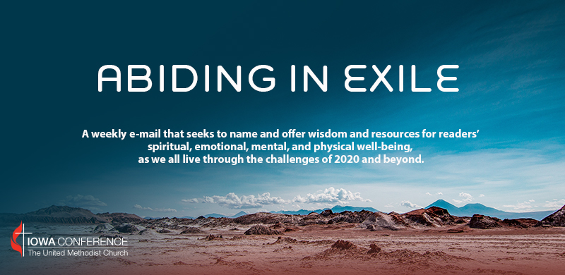 Abiding in Exile header. (Courtesy of the Iowa Annual Conference.)