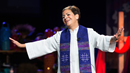 Bishop Cynthia Fierro Harvey of the Louisiana Area gives the sermon during morning worship at the 2016 United Methodist General Conference in Portland, Ore. File photo by Mike DuBose, UMNS.