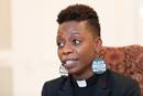 The Rev. Chenda Innis Lee discusses anonymous letters criticizing her appearance that she received from among the congregation at Fairlington United Methodist Church in Alexandria, Va., where she serves as associate pastor.