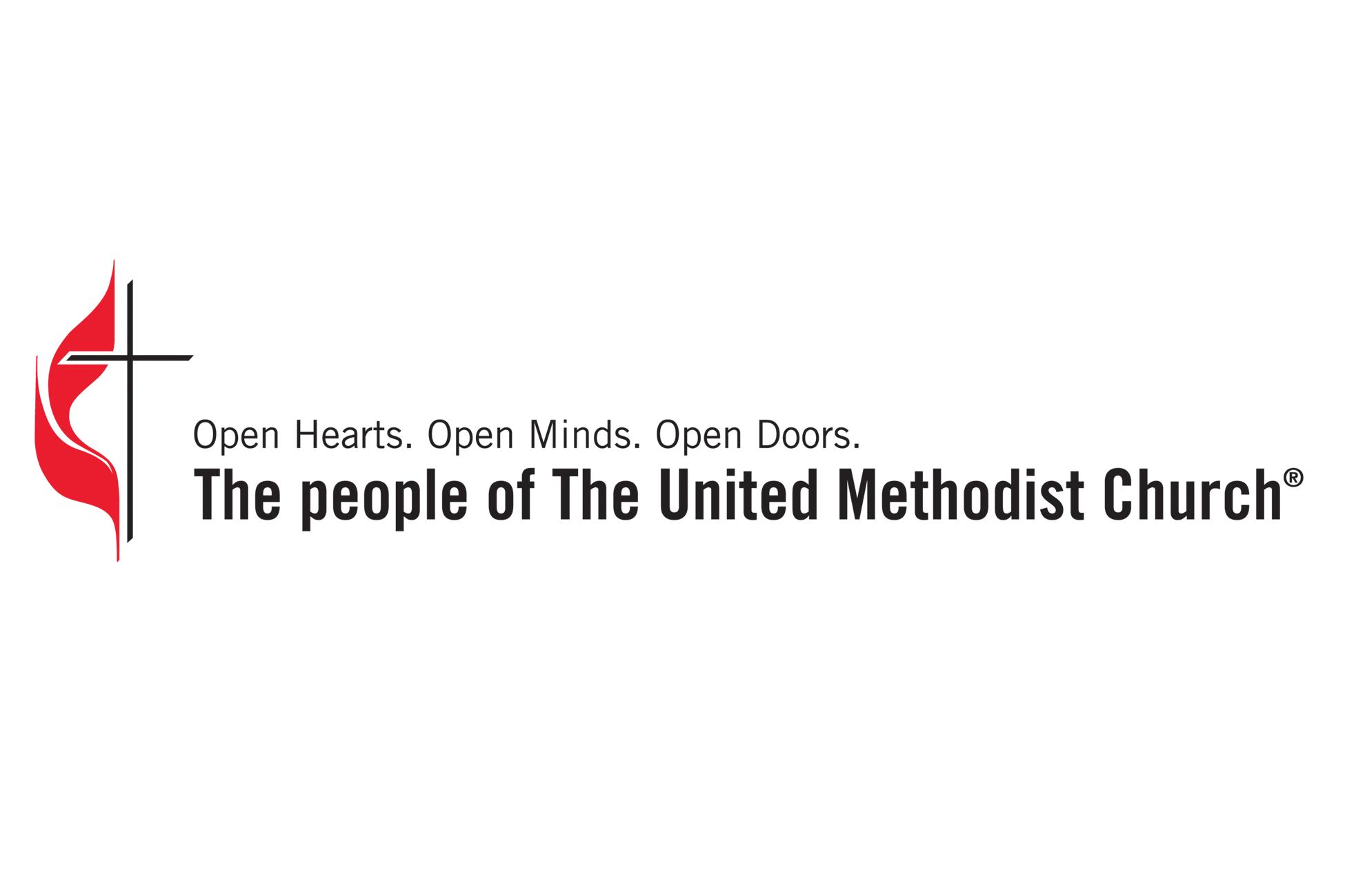 United Methodist Church brand promise logo, 3x2 ratio.