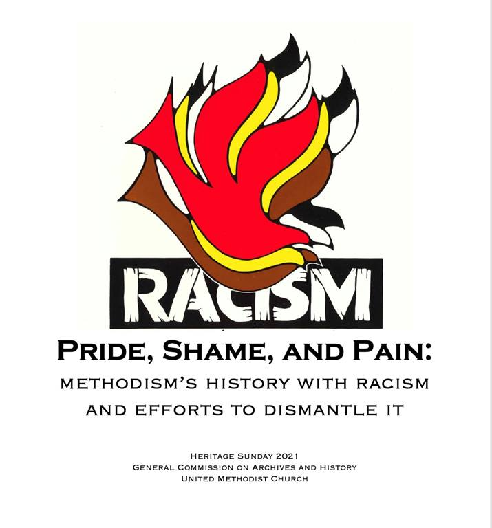 Racism logo (above) borrowed from the General Commission on Religion and Race. Kelly Fitzgerald, ed. Racism: The Church's Unfinished Agenda, a Journal of the National Convocation on Racism (General Commission on Religion and Race, 1987).