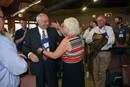 The Holston Conference's Bishop Mary Virginia Taylor embraces the Rev. David Graves following his election as United Methodist bishop at the Southeastern Jurisdictional Conference in 2016. On April 30, the Council of Bishops affirmed its decision to delay electing any new leaders until after the postponed General Conference. File photo by Annette Spence, Holston Conference.
