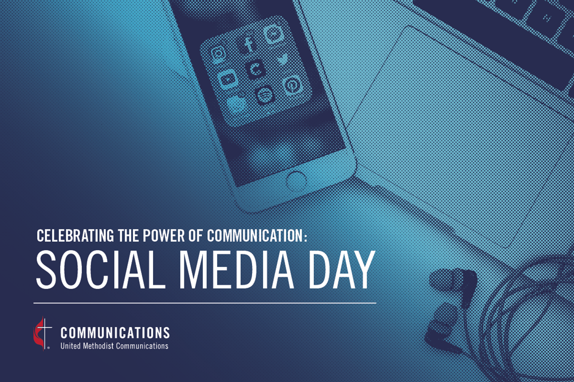 Social Media Day image created by United Methodist Communications.
