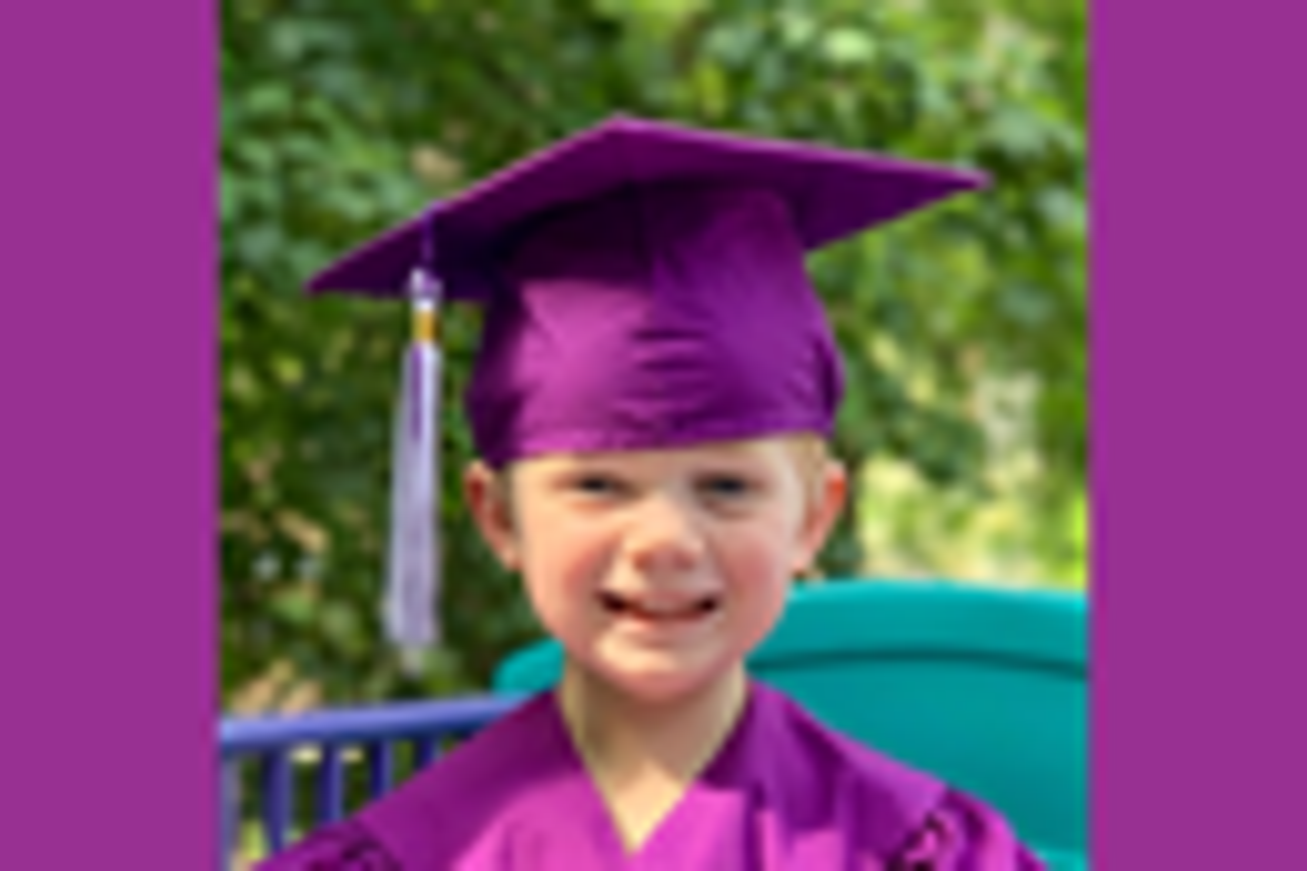 Dan Krause's son Carter graduated from preschool at Susan Gray School. (Photo provided by Dan Krause.)