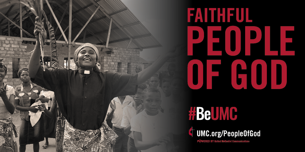 The People of God campaign celebrates the core values that connect the people of The United Methodist Church. We are faithful, missional, committed, spirit-filled, deeply rooted, connected, resilient, justice-seeking and diverse people of God.