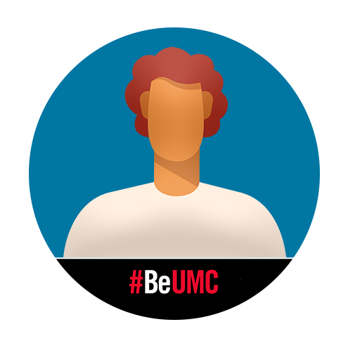 Male profile images with #BeUMC Facebook Frame.
