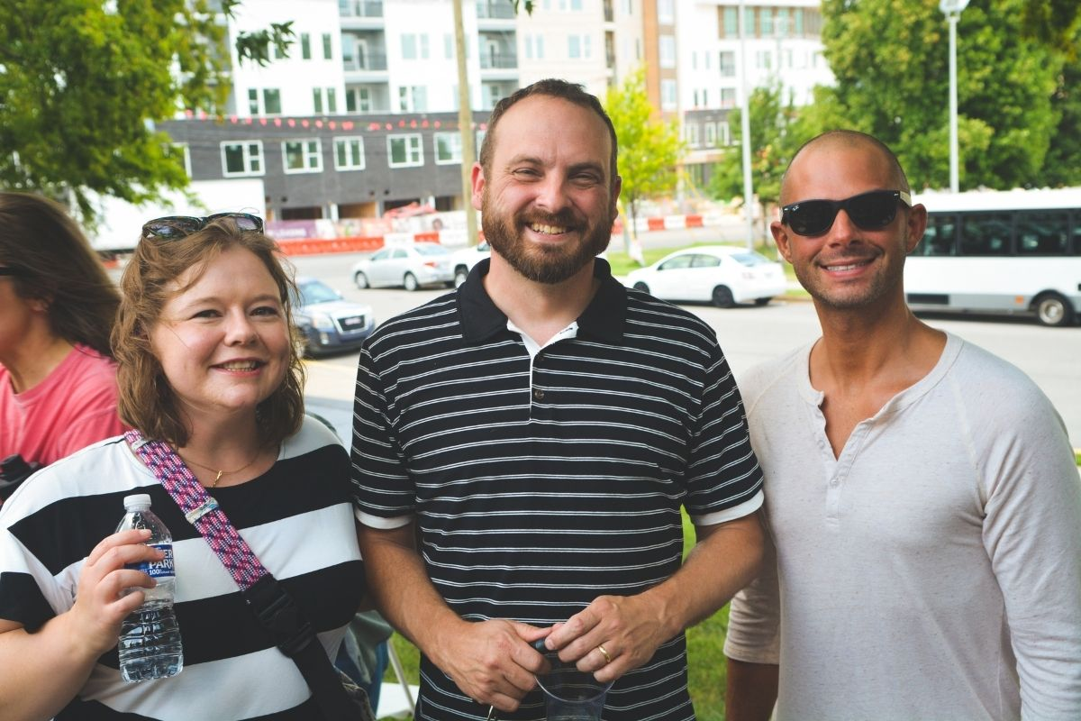 Local Church Services team members Melanie Mays, Craig Catlett and Steven Adair enjoyed the outdoors together. (Photo by Aaron Crisler.)