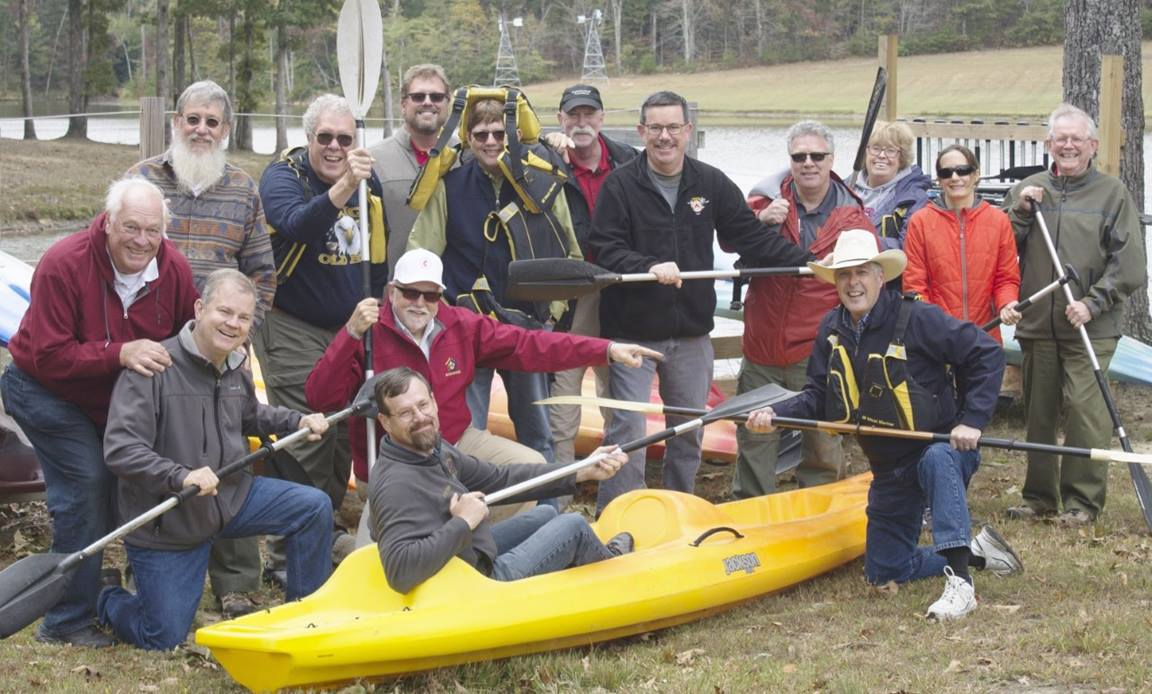 Steven Scheid, director of Scouting, poses with Scouting leaders. Photo courtesy of United Methodist Men.