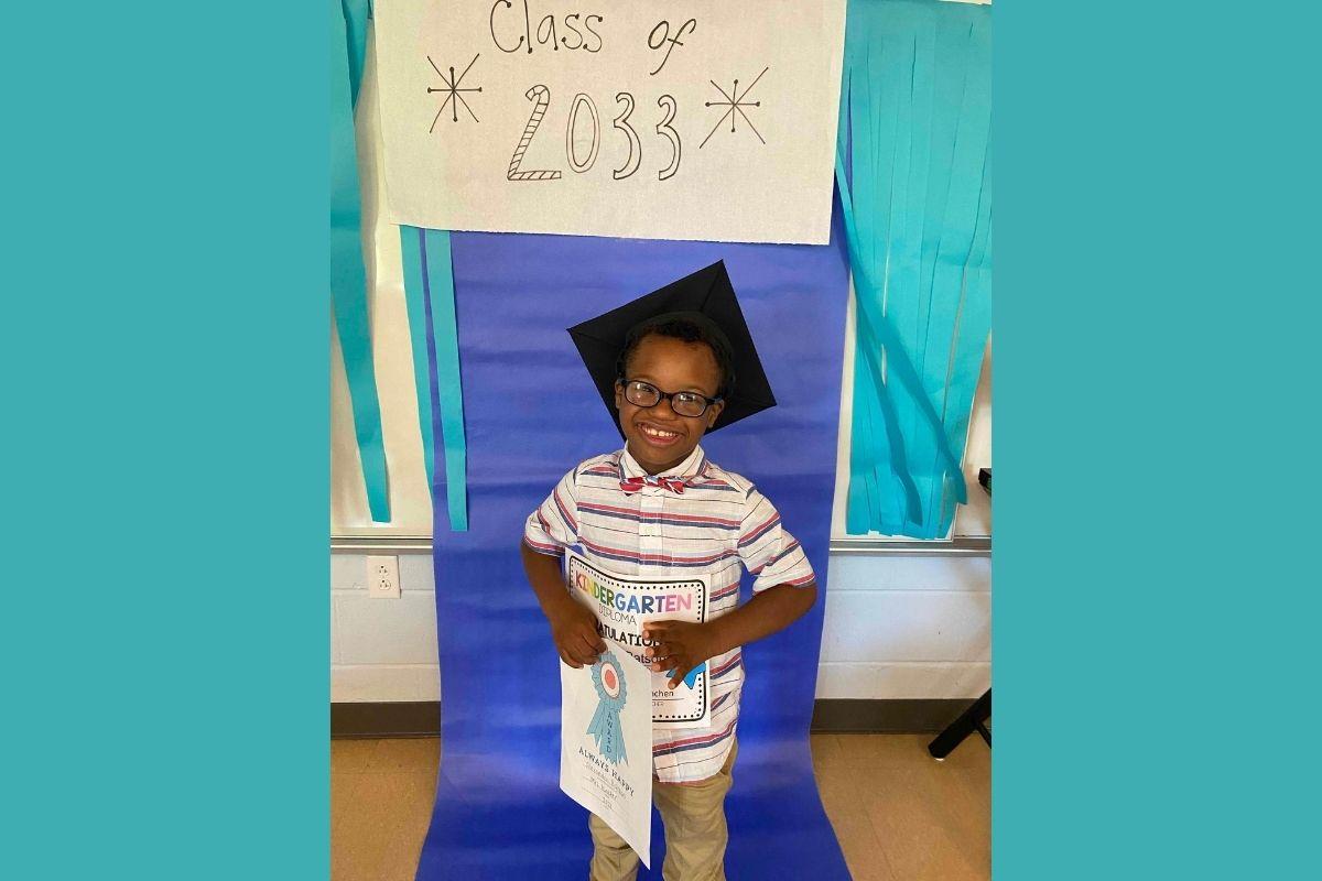 Royya James' son Alexander Elijah James Batson graduated from kindergarten at Norman Binkley Elementary and is awaiting the start of 1st Grade. (Photo courtesy of Royya James.)