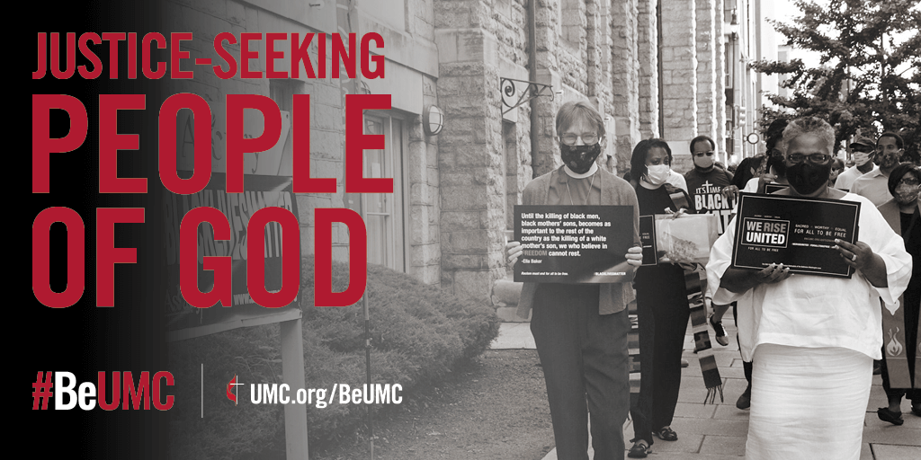 The People of God campaign celebrates the core values that connect the people of The United Methodist Church. We are faithful, missional, committed, spirit-filled, deeply rooted, connected, resilient, justice-seeking and diverse people of God.  We challenge unjust systems and work to secure equal opportunities for all.