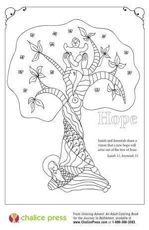 Advent coloring page: Hope